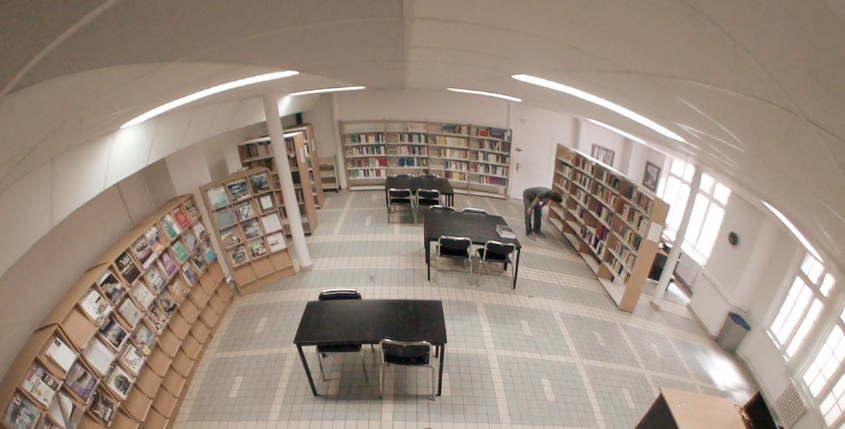 Vue fisheye de la bibliothèque de Supméca