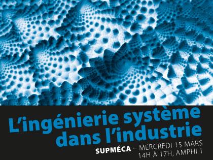 Affiche d'une conférence sur l'ingénierie système par Supméca
