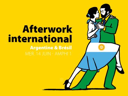 Visuel représentant deux danseurs dessinés pour l'Afterwork international