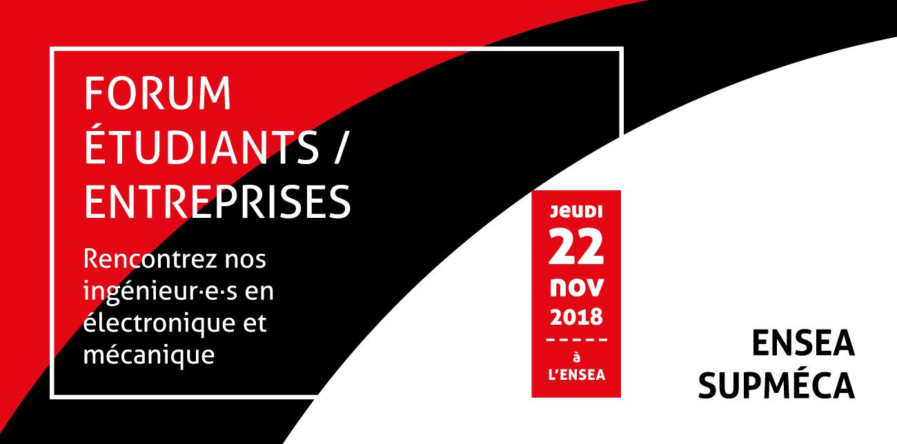 Forum entreprises ENSEA-Supmeca 22 novembre 2018
