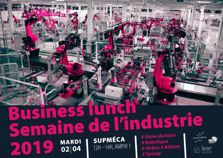 Visuel pour le Business Lunch - Semaine de L'industrie 2019