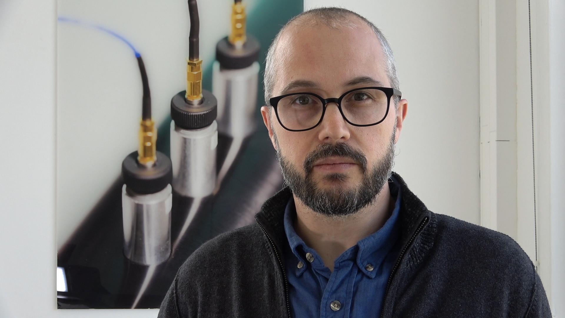 Photo de Nicolas Peyret, enseignant-chercheur à Supméca et responsable du projet d'ingénierie mécanique, partie dimensionnement, projet PRIM