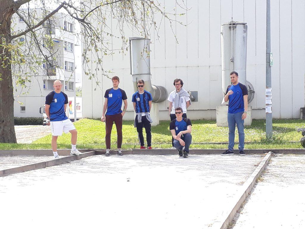 photo équipe de Supméca EAG, épreuve pétanque