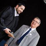 Photo de la remise du Prix du Gami avec HP lieurade et Christophe Assaad