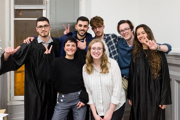L'équipe Supméca 2020 pour la French debating association