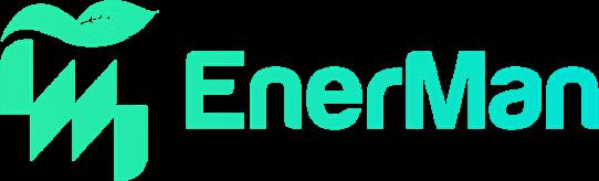 Logo EnerMan vert et bleu